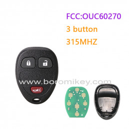 OUC60270 315MHZ 3 button GM...