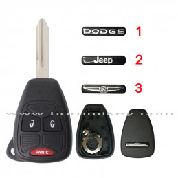 With logo  2+1 button  key...